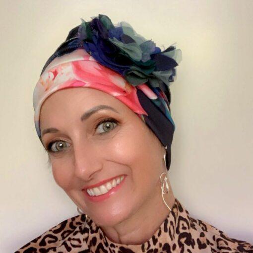 Floral Chemo Cloche Hat